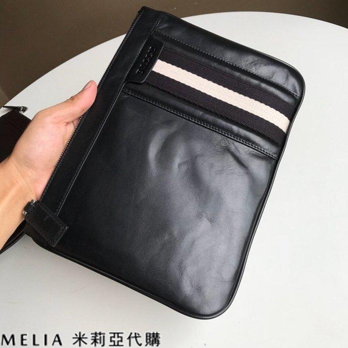 Melia 米莉亞代購 美國代買 BALLY 貝利 男士款 扁手拿包 文件包 油蠟皮質越用越亮 小款 黑色