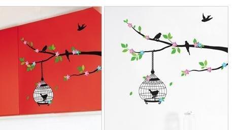 【皮蛋媽的私房貨】韓國進口壁貼&壁紙*室內設計/裝飾*簡單高雅鳥籠款