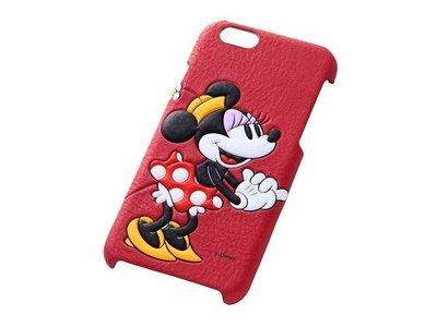 尼德斯Nydus~* 日本正版 Disney 迪士尼 米妮 皮套 立體 背蓋式 手機殼 iphone6 4.7吋