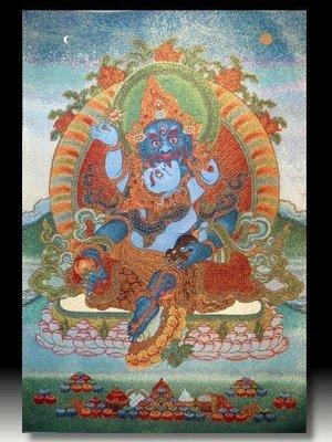 【 金王記拍寶網 】S850 中國西藏藏密佛像刺繡唐卡 刺繡 (大)一張 完美罕見~