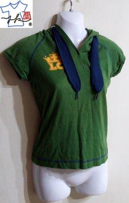 專櫃Lee Cooper 短袖上衣 連帽T恤-女款-綠-S【J&K嚴選】LV太陽的後裔