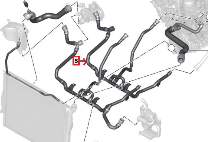 938嚴選 副廠 熱水管 N46 E90 E91 E92 E93 E82 X1 E84 E88 加熱裝置回流管 4叉管