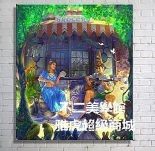 【格倫雅】^王子和公主 兒童畫客廳現代無框掛裝飾畫風景畫油畫69191[g-l-y15
