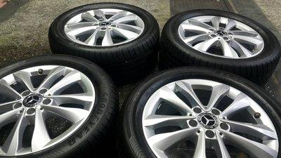中古圏新款 原廠Benz W205 5X112 17吋鋁圈 7J ET48.5 W204 W212 W213 拆車圏一組