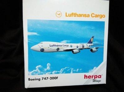 藍河馬X 金屬 飛機 模型 全新 HERPA LUFTHANSA CARGO BOEING 747-200F WINGS