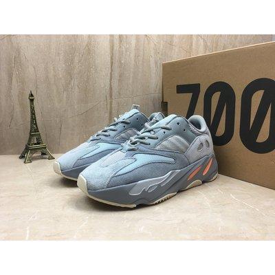 正品 Adidas Yeezy Boost 700 Inertia 灰橘 灰藍 休閒運動慢跑鞋 男女鞋 EG7597