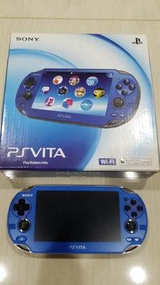 9成新 PSV 1007型 寶石藍色主機 版本3.52 3.60可參考 直購價4680