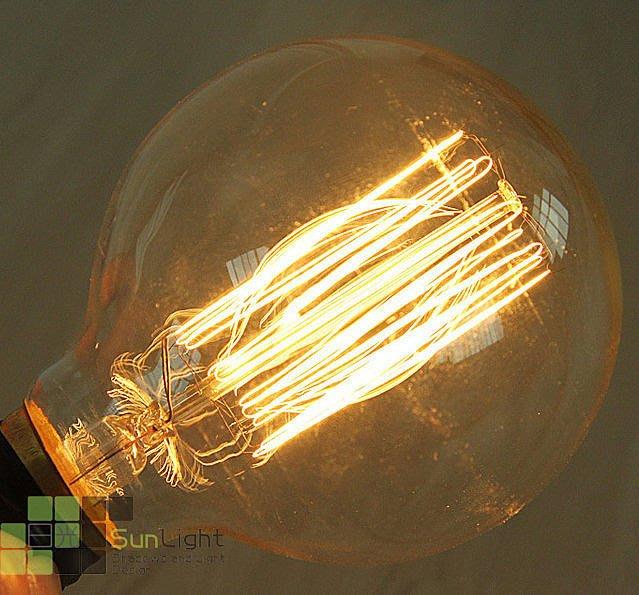 【LUNA LIGHT 月之燈坊】LOFT愛迪生燈泡復古G80火球燈泡(B-11)2組