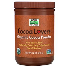 【品質生活】現貨美國Now Foods, Real Food, Cocoa Lovers ,340g