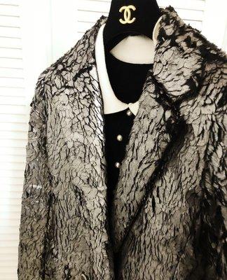 原價22萬 天橋秀款 仿銀白天鵝羽毛大衣