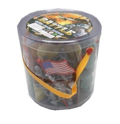 佳佳玩具 ------ 桶裝士兵桶 軍事套裝組 勇士 軍人 戰士 阿兵哥 模型 ST安全玩具【01T091】