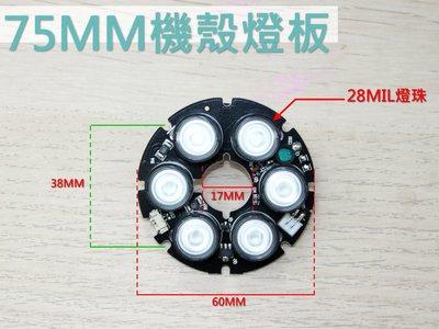 75MM燈板/監視器燈板/鏡頭燈板/75機殼燈板/監控燈板/紅外燈板/紅外線燈板/陣列燈板