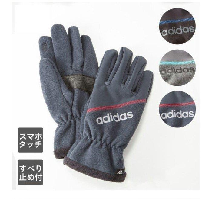 天使熊雜貨小舖~日本愛迪達adidas手套  現貨:黑色 全新現貨
