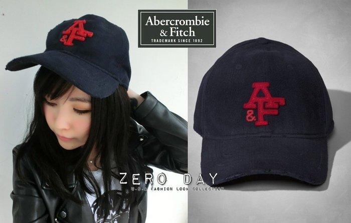 【零時差美國時尚網】A&F Abercrombie&Fitch Classic Baseball Cap美式貼布棒球帽藍