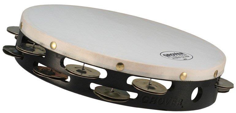 【卓悅水牛樂器】Grover Hybird™ 系列T2/HS 10吋雙排鈴鼓/德國銀+焠火銀