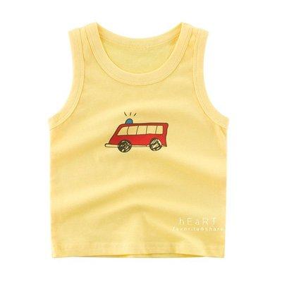 【可愛村】黃底救護車舒適透氣背心 童裝 背心 居家服 上衣