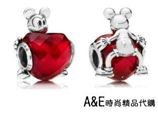 A&E精品代購 Pandora 潘朵拉 迪士尼米奇切割愛心寶石串珠 925純銀 Charms 時尚流行精品