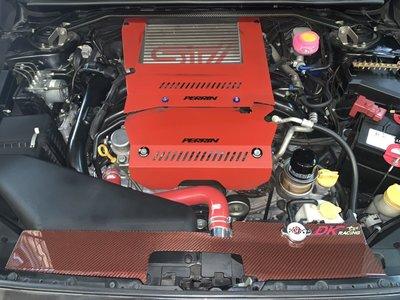 DK RACING特製紅/桃紅卡夢WRX STI LEVORG隔熱降溫集風蓋CARBON Radiator  CAPS