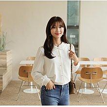 【韓國連線】alice 愛麗斯韓國 128127 層次雕花蕾絲圓領襯衫上衣