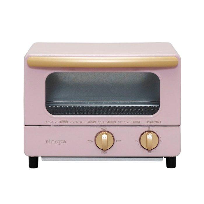 【Q寶媽】日本Iris Ohyama ricopa 經典烤箱EOT-01 完美主義 珊瑚粉