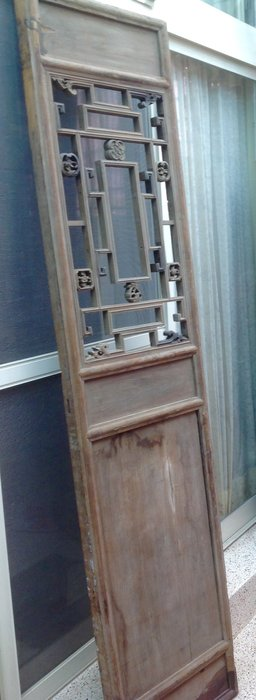 【黑狗兄】老窗花門雕花門,隔扇,屏風一件----A5-01