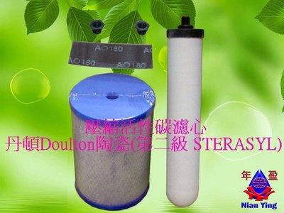 【NianYing 淨水】 特殊規格鎖牙壓縮活性碳濾心+ 英國丹頓陶瓷濾心(第二級STERASYL)適用金*塔(非原廠)