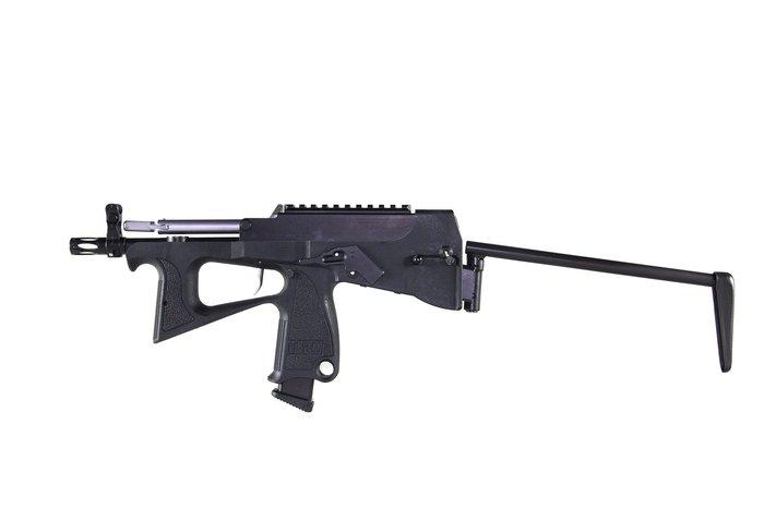 【翔準國際AOG】摩帝PP-2K 瓦斯後座力衝鋒槍 (含PP-2K成槍X1、專用塑膠槍箱X1、短彈匣X1)-