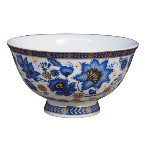 現貨/青花 琺瑯彩骨瓷4.5吋飯碗 歐風 典雅碗 骨瓷碗 高腳碗 骨瓷飯碗