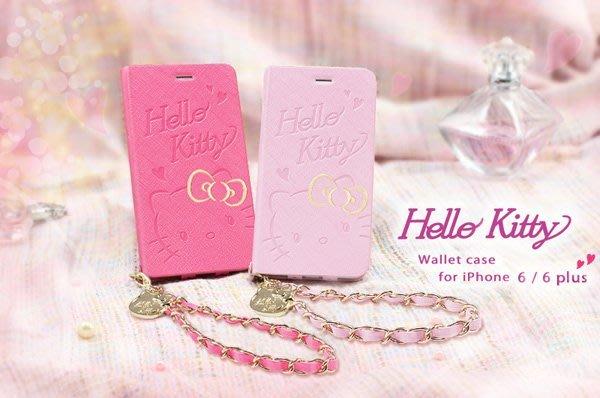 GARMMA Hello Kitty iPhone 6/6S Plus 5.5吋側掀式摺疊皮套-雙色