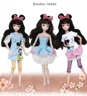 ♥萌娃的店♥ 可兒娃娃 莉卡娃娃 小布娃娃 珍妮娃娃 迪士尼衣服洋裝 6089摩登米妮6090派對米奇6091派對米妮 台北市