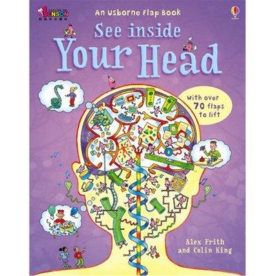 [邦森外文書] 全新現貨 Usborne See Inside Your Head 精裝本翻翻書