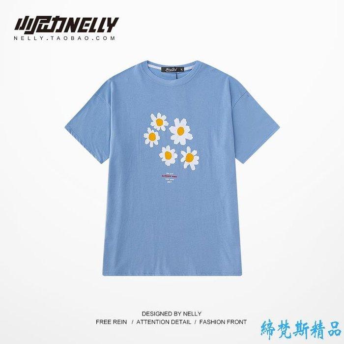 夏季新款短袖T恤男女 韓版半袖上衣印花嘻哈復古半袖