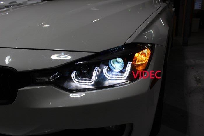 大台北汽車精品 BMW F30 328 335 316 320 M3 專用 黑框 LED 光圈 雙魚眼 大燈 台北威德