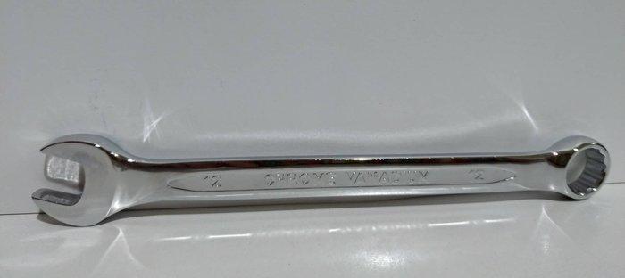 【鎮達】台灣製 鏡面梅開板手 12mm