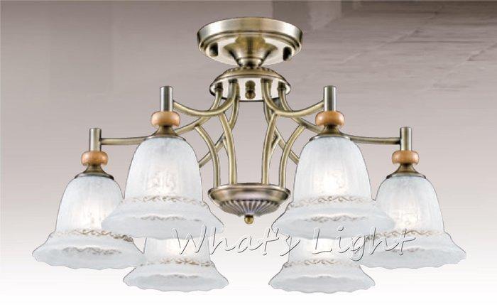 划得來LED燈飾~ 師燈款 歐風古典美學 E27~6 歐式簡約鄉村 氣質半吸頂燈 66公分