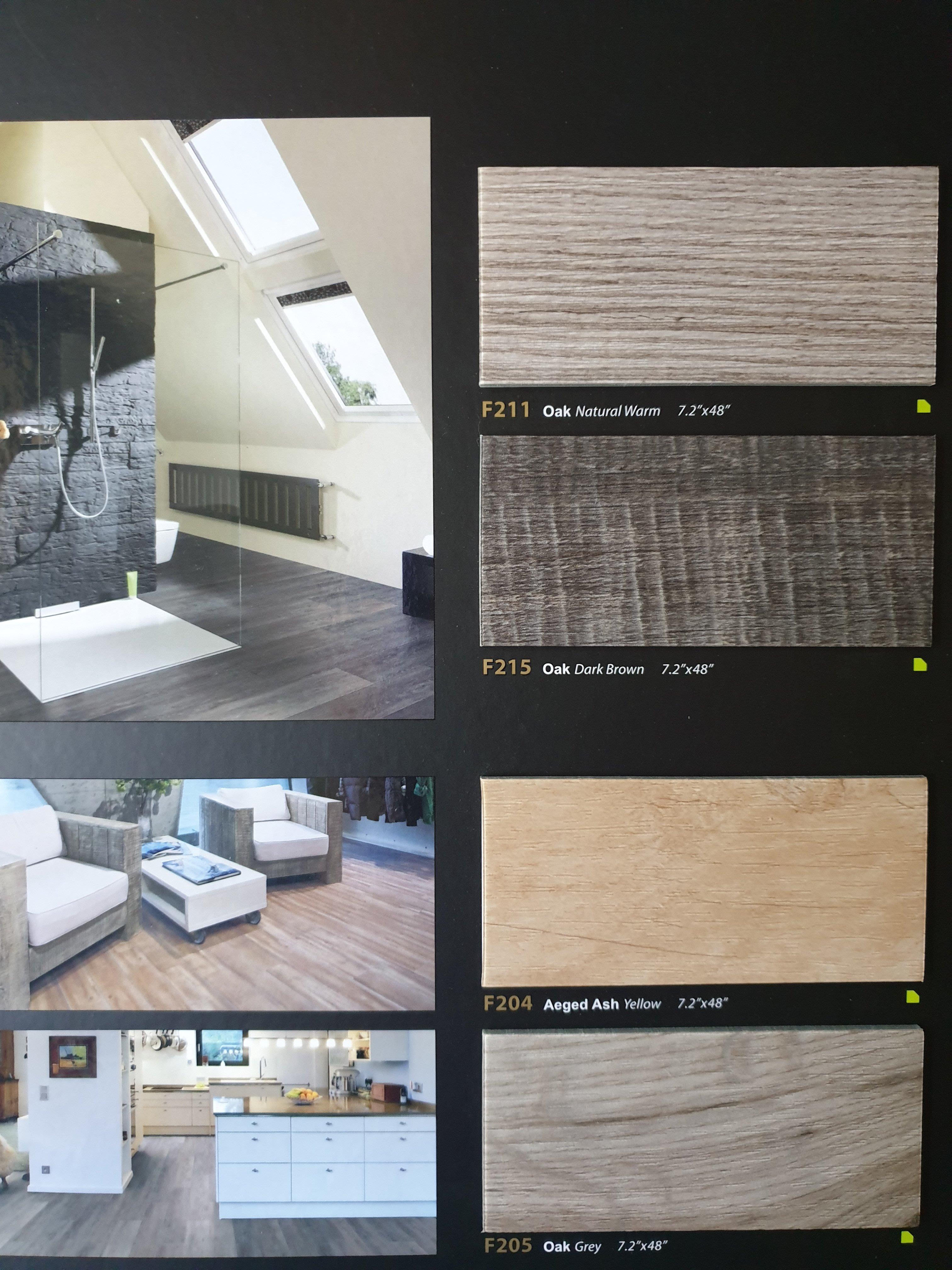 美的磚家~特殊四邊削角FLOORWORKS福樂絕色木紋塑膠地磚塑膠地板~特殊尺寸18cmx122cmx3mm每坪1400