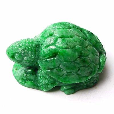 翡翠王朝 緬甸A貨翡翠 老坑冰糯種 水潤精雕 滿綠 辣綠 長壽龜  玉墜 顏色亮種水足 佩戴收藏佳品