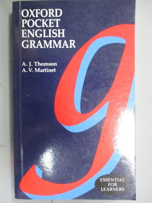 【書寶二手書T1/字典_ONA】Oxford Pocket English Grammar_Thompson