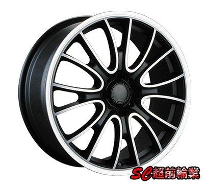 【超前輪業】全新鋁圈 MINI1樣式 17吋鋁圈 4孔100 黑底車亮面 COOPER 適用