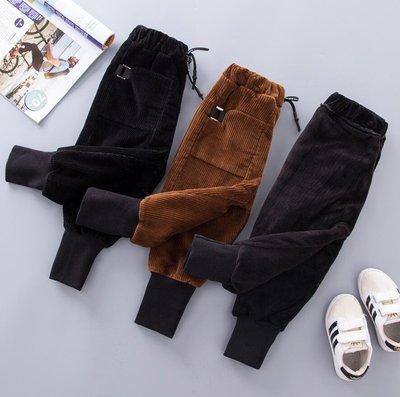 寶寶褲 男童女寶寶棉褲  1-3歲5潮小童加絨燈芯絨褲 兒童保暖褲外穿打底褲—莎芭