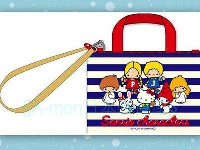 §A-mon日本雜貨屋§三麗鷗 Sanrio家族kitty Patty&Jimmy*悠遊卡套*識別證套*車票夾 行李箱吊