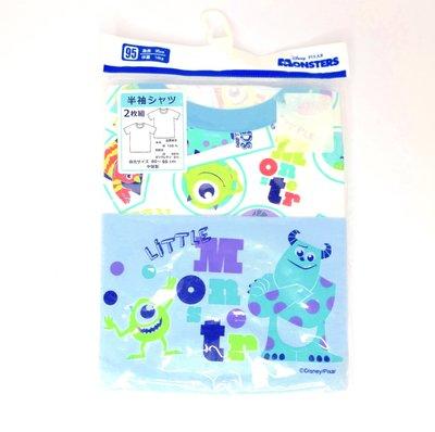 現貨 日本直購 短袖上衣 2入組 迪士尼 怪獸電力公司 嬰幼兒