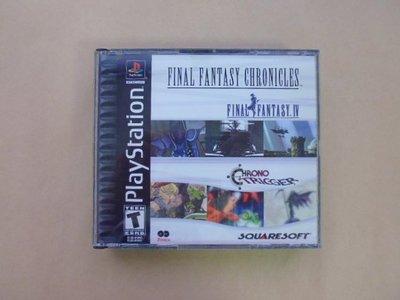 明星錄*2001年美國版FINAL FANTASY CHRONICLES(2片裝)二手遊戲光碟=附英文操作手冊(k392