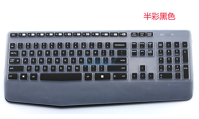 Logitech羅技MK345 k345辦公家用臺式鍵盤保護貼膜防塵套罩鍵盤膜