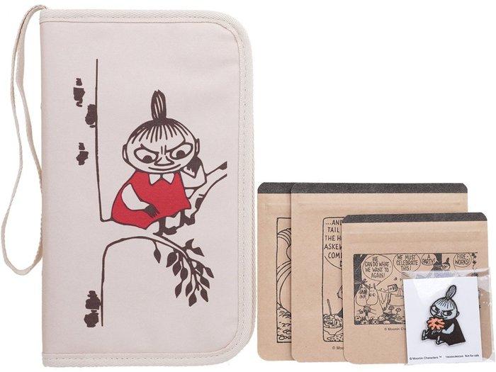 ☆Juicy☆日本雜誌附錄 MOOMIN 嚕嚕米 亞美 小不點 多功能 小物包 手拿包 護照夾 收納包 7144
