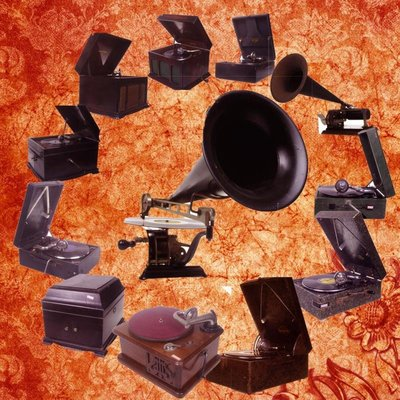 百寶軒 近百臺西洋古董78轉手搖留聲機大喇叭留聲機 ZG2281