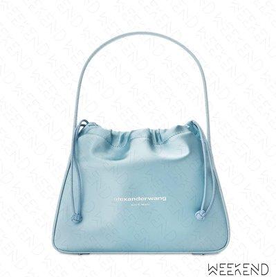 【WEEKEND】 ALEXANDER WANG Ryan Satin Small 小款 緞面 手提包 天藍色
