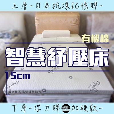 【嘉新床墊】厚15公分/ 雙人加大6尺【智慧紓壓床】頂級手工薄墊/台灣領導品牌/矽膠乳膠優點
