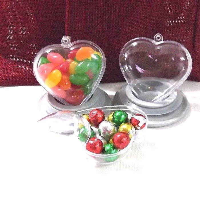 DIY愛心扭蛋殼 壓克力 喜糖盒 婚禮小物 公司活動贈品 聖誕禮物包裝/20入【愛光臨】
