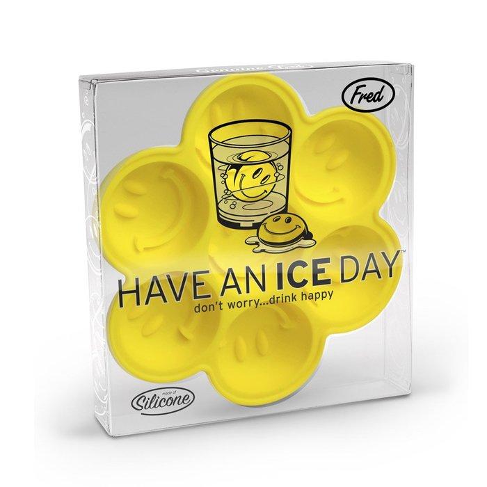 Maple麋鹿小舖 美國AE購買 * Fred & Frien HAVE AN ICE DAY 可愛笑臉圖樣製冰盤
